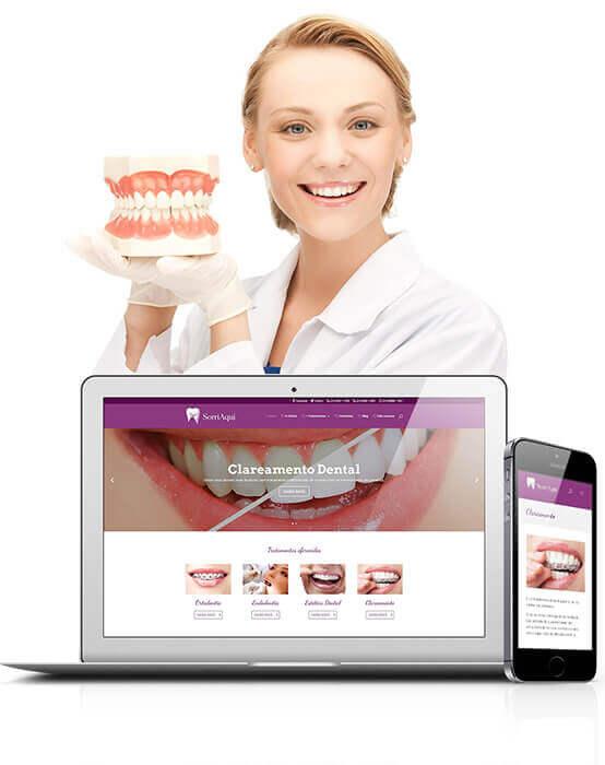 Criação de site para dentista