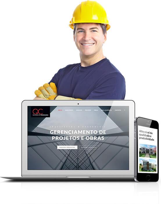 Site para empresa de engenharia e arquitetura