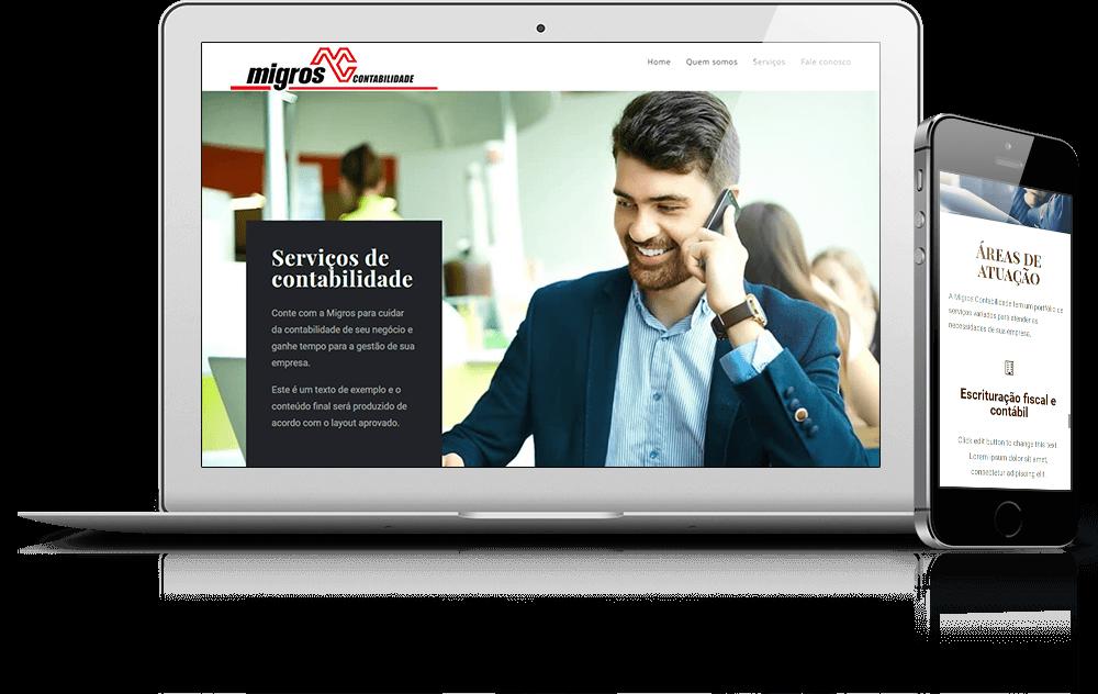 Site desenvolvido para serviços de contabilidade