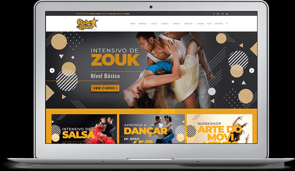 Redesign do site Clube Latino