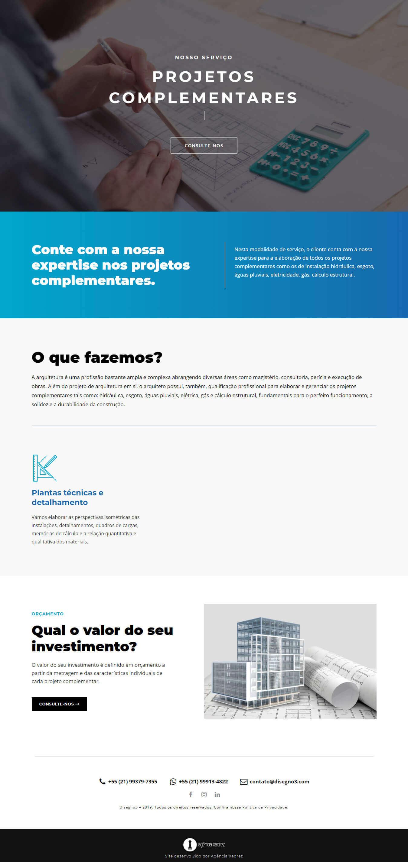 Projeto criação de site para escritório de arquitetura