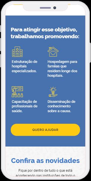 Tela do hotsite da campanha Sorte Acelerada.