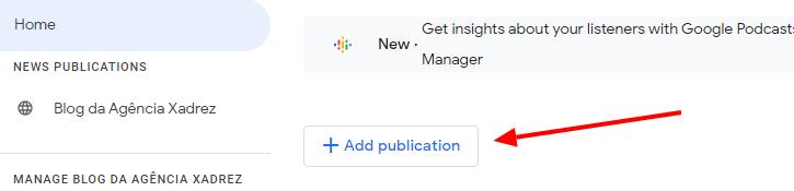 Como adicionar uma publicação no Google News