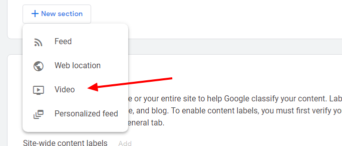 Adicionando vídeos ao Google News