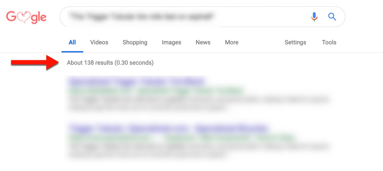 Teste de conteúdo duplicado para criar página de produto otimizada. Encontramos 138 resultados. Ou seja, conteúdo repetido exaustivamente na web.
